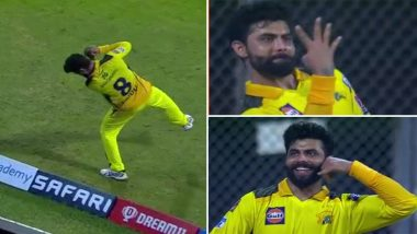 IPL 2021 CSK vs RR: फील्डिंग में दिखा रविंद्र जड़ेजा का जलवा, चार कैच लेने के बाद कुछ इस तरह किया सेलिब्रेट, देखें वीडियो