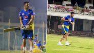 IPL 2021 CSK vs RR: मैच से पहले एमएस धोनी एंड कंपनी ने जमकर बहाया पसीना, देखें वीडियो