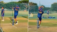 IPL 2021 KKR vs MI: केकेआर खिलाफ होनेवाले मुकाबले से पहले मुंबई इंडियंस के कप्तान रोहित शर्मा ने की नेट्स में जमकर गेंदबाजी, देखें वीडियो