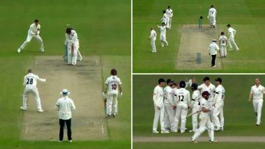 इंग्लिश काउंटी में गेंदबाज ने जबरदस्त स्पिन करते हुए बल्लेबाज का उखाड़ा ऑफ स्टंप, शेन वार्न भी बोले 'वाह बेटा', Watch Video