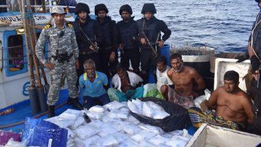 Indian Navy की बड़ी कार्रवाई, अरब सागर में मछली पकड़ने वाले जहाज से ₹3000 करोड़ का नशीला पदार्थ किया जब्त