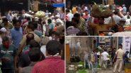 Delhi Lockdown: लॉकडाउन के बीच बड़ी संख्या में लोग सब्जी मंडी में खरीदारी करने पहुंचे, सोशल डिस्टेंसिंग की उड़ी धज्जियां