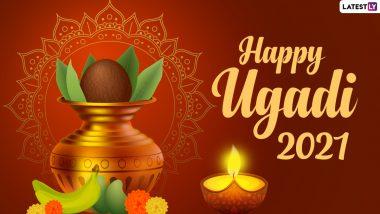 Ugadi 2021 HD Images & Wallpapers: उगादी पर ये Facebook Greetings, WhatsApp Stickers, GIF Wishes भेजकर दें बधाई
