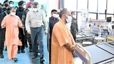 Uttar Pradesh: कोरोना के खिलाफ खुद जंग के मैदान में उतरे CM योगी आदित्यनाथ, लखनऊ में बन रहे कोविड अस्पताल का किया निरीक्षण, महामारी के प्रबंधन के लिए बनाई 'टीम-9'
