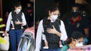 बेबी वामिका को गोद में लिए मुंबई पहुंची अनुष्का शर्मा, पति विरत कोहली भी दिखे साथ