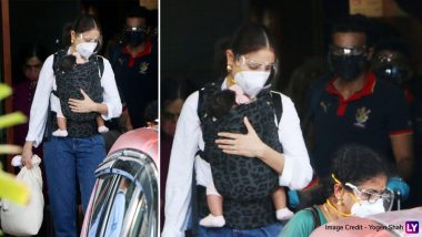 IPL 2021:बेबी Vamika को गोद में लिए मुंबई पहुंची Anushka Sharma, पति Virat Kohli भी दिखे साथ, (See Cute Photos)