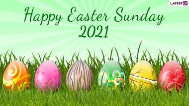 Happy Easter 2021 Wishes & HD Images: हैप्पी ईस्टर! इन मनमोहक WhatsApp Stickers, Greetings, Photo SMS, Wallpapers के जरिए दें अपनों को बधाई