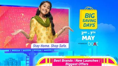 Flipkart Big Saving Days: स्मार्टफोन खरीदने का है शानदार मौका, 2 मई से मोबाइल, टीवी समेत इन प्रोडक्ट्स पर मिलेगा बड़ा डिस्काउंट