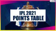 IPL 2021 Points Table Updated: CSK vs DC मैच के बाद यह रही आईपीएल 2021 की लेटेस्ट पॉइंट्स टेबल