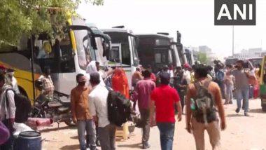 Delhi: फैक्ट्रियों के खुलने पर काम की तलाश में नई उम्मीद लेकर गांव से वापस लौट रहे प्रवासी मजदूर