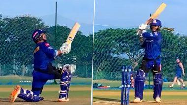MI vs SRH 9th IPL Match 2021: हैदराबाद के खिलाफ मैच से पूर्व Ishan Kishan ने अपना रौद्र रूप, प्रैक्टिस सेशन का यह वीडियो देखकर आप भी हो जाएंगे रोमांचित