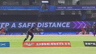 IPL 2021: RCB vs KKR मैच में यह कैच रहा आकर्षण का केंद्र, वीडियो देखकर आप भी हो जाएंगे हैरान