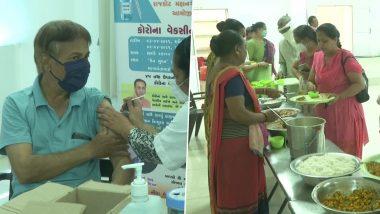 Gujarat: राजकोट की एक संस्था की खास मुहीम, कोरोना वैक्सीन लगवाने वालों को मिल रहा है मुफ्त खाना