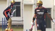 RCB vs KKR 10th IPL Match 2021: केकेआर के खिलाफ मैच से पहले Devdutt Padikkal ने बहाया जमकर पसीना, देखें दिल को जीत लेना उनका ये सिक्स