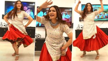 Sapna Choudhary Dance Video: हरयाणवी डांसर सपना चौधरी ने घागरा पहनकर किया हॉट डांस, घर बैठे कर रही हैं फैंस का मनोरंजन