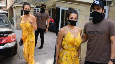 Easter पर Arjun Kapoor संग Malaika Arora पहुंची अपने पैरेंट्स के घर, पैपराजी के सामने दिए पोज