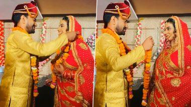 भोजपुरी स्टार Dinesh Lal Yadav और एक्ट्रेस Akshara Singh ने कर ली शादी? Video देखकर चौंके फैंस