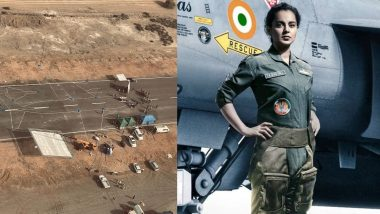 Kangana Ranaut ने फिल्म तेजस का राजस्थान शेड्यूल किया खत्म, सेट से शेयर की खास तस्वीरें