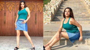 Monalisa Hot Photos: Bhojpuri actress Monalisa wreaks havoc in western look, shares new pictures