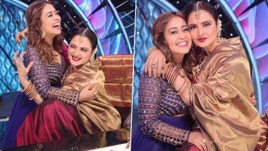 Indian Idol 12 के सेट पर पहुंची रेखा ने नेहा कक्कड़ को दिया शादी का शगुन, सिंगर ने फोटो शेयर कर कह दी बात