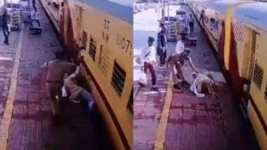 चलती ट्रेन ने नीचे आया बुजुर्ग, मसीहा बनकर पुलिस वाले ने बचाई जान, Video शेयर कर पीयूष गोयल ने कही ये बात
