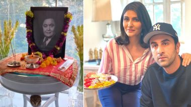 Rishi Kapoor की पहली पुण्यतिथि पर Ranbir Kapoor समेत परिवार ने आयोजित की ऑनलाइन पूजा, देखें फोटो