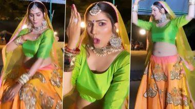 Sapna Choudhary ने घागरा पहनकर किया गजब का डांस, नहीं देखा होगा हरयाणवी डांसर का ऐसा Video
