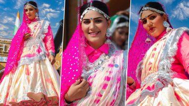 Sapna Choudhary का देसी घागरा लुक इंटरनेट पर हुआ Viral, कातिलाना Photos पर लट्टू हुए फैंस