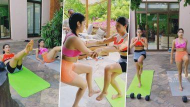 Sara Ali Khan और Janhvi Kapoor ने स्पोर्ट्स ब्रा पहनकर किया हॉट वर्कआउट, मालदीव से ये Video देख फटी रह जाएंगी आंखें