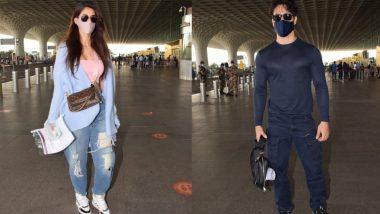 Disha Patani और Tiger Shroff मुंबई एअरपोर्ट पर हुए स्पॉट, वेकेशन मनाने मालदीव हुए रवाना
