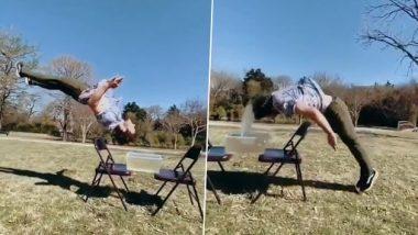 Backflip Stunt Viral Video: इस शख्स ने किया जबरदस्त बैकफ्लिप स्टंट, वीडियो देख हो जाएंगे हैरान