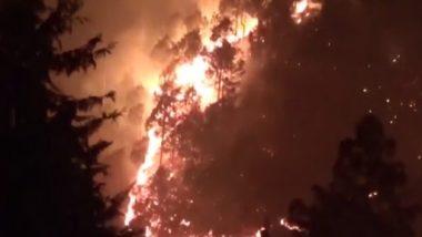 Uttarakhand Forest Fire: धूं-धूं कर जल रहे चामुंड और टिहरी गढ़वाल के जंगल, भीषण आग के सामने प्रशासन भी दिख रहा लाचार, देखें वीडियो