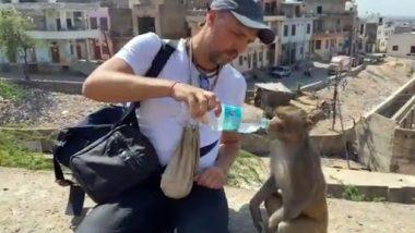 Viral Video: शख्स ने प्यासे बंदर को अपनी बोतल से पिलाया पानी, देखें अद्भूत वीडियो