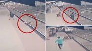 स्विचमैन ने जान पर खेलकर रेलवे पटरी पर गिरे बच्चे को ऐन वक्त पर बचाया, देखें वीडियो