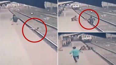 Video: जांबाज स्विचमैन Mayur Shelkhe को सलाम, पटरी पर गिरे बच्चे को जान पर खेलकर बचाया
