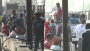 लॉकडाउन के डर से प्रवासी मजदूर अपने घरों की ओर कर रहे हैं पलायन, देखें तस्वीरें