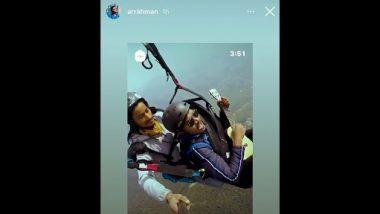 Man Sings While Paragliding: पैराग्लाइडिंग के दौरान शख्स ने गाया 'मां तुजे सलाम गाना', एआर रहमान हुए फैन, देखें वीडियो