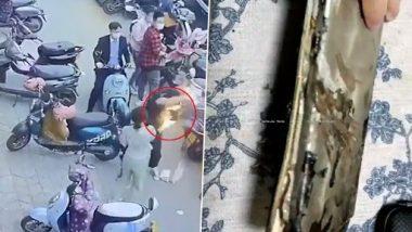Phone Suddenly Explodes: शख्स के बैग में रखा फोन अचानक हुआ ब्लास्ट, उसके बाद जो हुआ...देखें वायरल वीडियो
