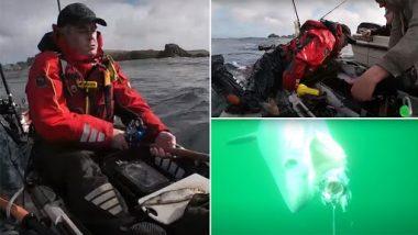 Shocking! विशाल शार्क ने मछुआरे की नाव को धक्का देकर पलटा, बोट पर किया कब्ज़ा, देखें वीडियो