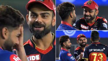 IPL 2021: RCB ने DC को दी पटखनी तो मैच के बाद मस्ती करते दिखे विराट कोहली और ऋषभ पंत, देखिए Video