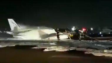 नागपुर से हैदराबाद जा रही एयर एंबुलेंस की मुंबई में कराई गई इमरजेंसी लैंडिंग, देखें वीडियो