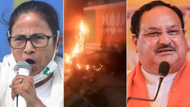 West Bengal Violence: नतीजे आने के बाद हिंसा की 'आग' में झुलसा पश्चिम बंगाल, कल देशभर में धरना देगी BJP, आज पीड़ितों से मुलाकात करेंगे जेपी नड्डा
