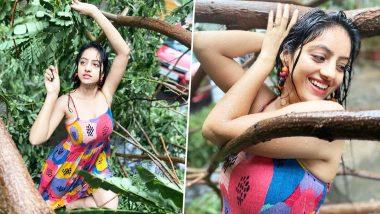 Cyclone Tauktae में गिरे पेड़ों के बीच डांस करती दिखीं टीवी एक्ट्रेस Deepika Singh, देखें Photos और Videos
