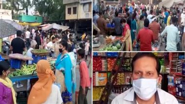 हरियाणा में 7 दिन का पूर्ण लॉकडाउन की घोषणा के बाद अंबाला के बाजार में लोगों ने लगाई की भारी भीड़