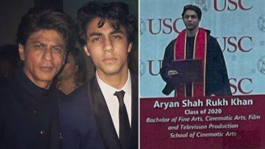 Shah Rukh Khan के बेटे Aaryan Khan के ग्रेजुएशन सेरेमनी की फोटो हुई Viral, हैंडसम स्टाइल में दिखे स्टारकिड