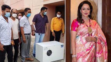 Hema Malini ने कोरोना मरीजों के लिए मथुरा में लगवाई Oxygen Enhancer Machine, ट्विटर पर Photos शेयर कर दी जानकारी