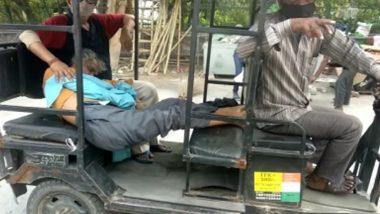New Delhi: Horrifying image of Corona, brother arrives at crematorium with e-rickshaw