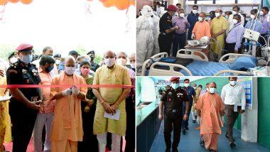 UP में कोरोना के खिलाफ लड़ाई को मिलेगी मजबूती, लखनऊ में CM योगी आदित्यनाथ ने किया DRDO के अस्थाई कोविड अस्पताल का उद्घाटन