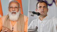 राहुल और कई अन्य कांग्रेस नेताओं ने प्रधानमंत्री को जन्मदिन की बधाई दी