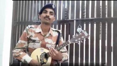 ITBP कांस्टेबल राहुल खोसला ने कोरोना योद्धाओं के लिए मैंडोलिन पर बजाई 'दिल दिया है जान भी देंगे' धुन, देखें वीडियो